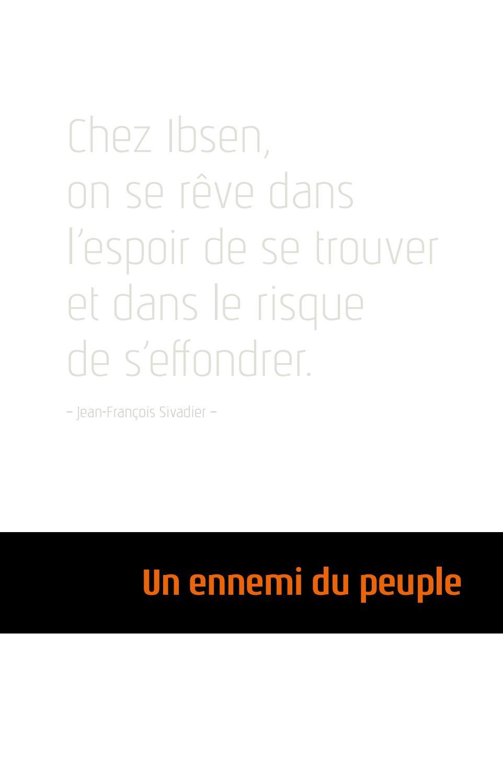 Un Ennemi Du Peuple Sivadier : ennemi, peuple, sivadier, Programme, Ennemi, Peuple