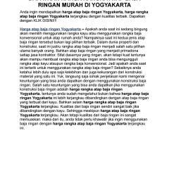 Harga Rangka Atap Baja Ringan Dapatkan Murah Di Yogyakarta By Dela