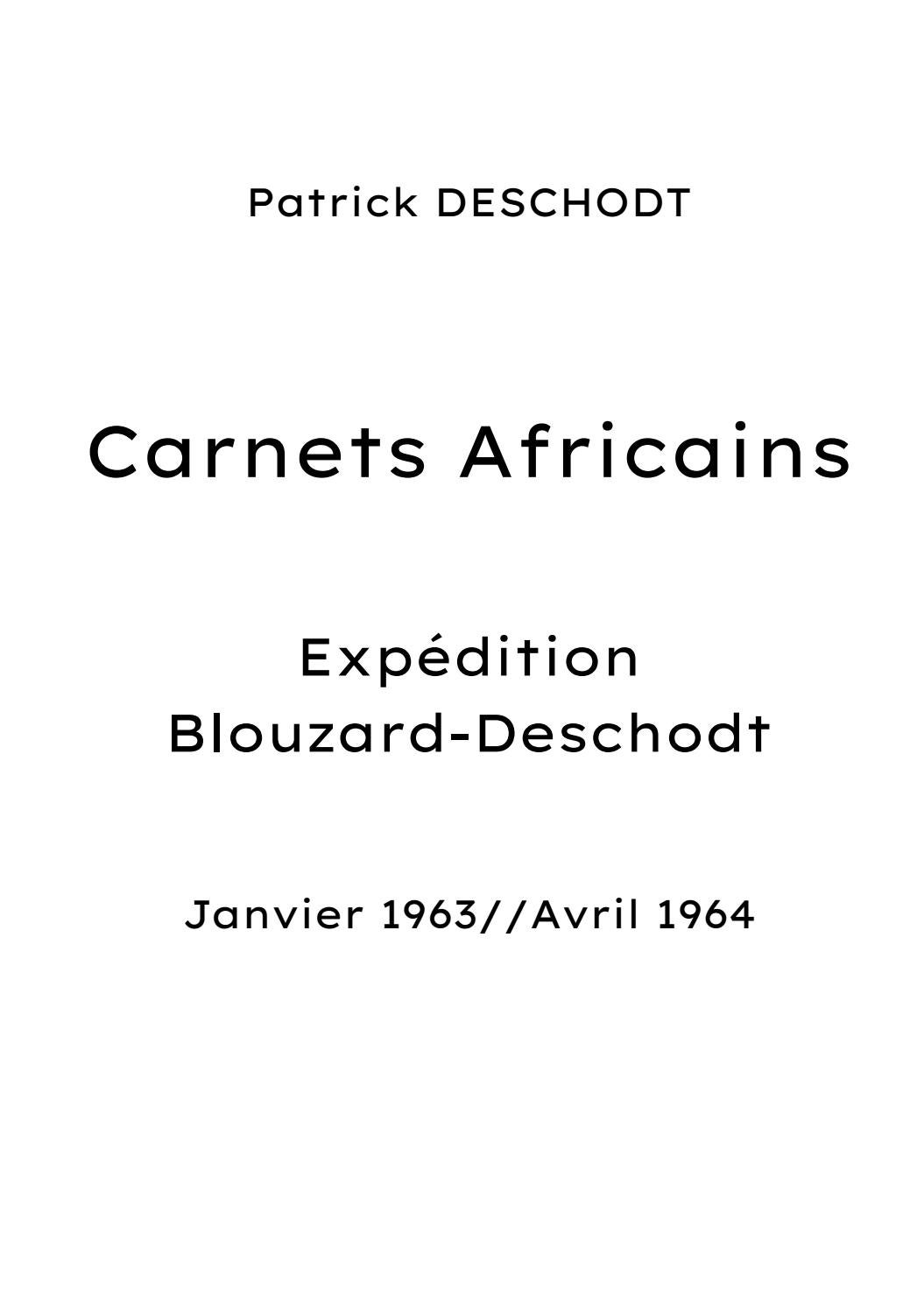 A Retenu Ulysse Bien Avant Belafonte : retenu, ulysse, avant, belafonte, Carnets, Africains, Patrick, DESCHODT, JEANNARD, Robert, Issuu