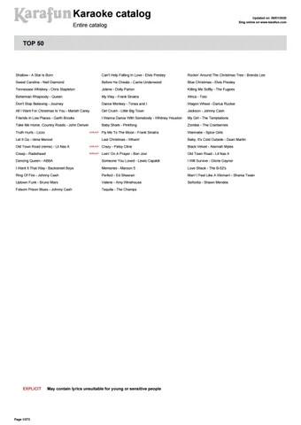 karaoke song list by jrite2 issuu