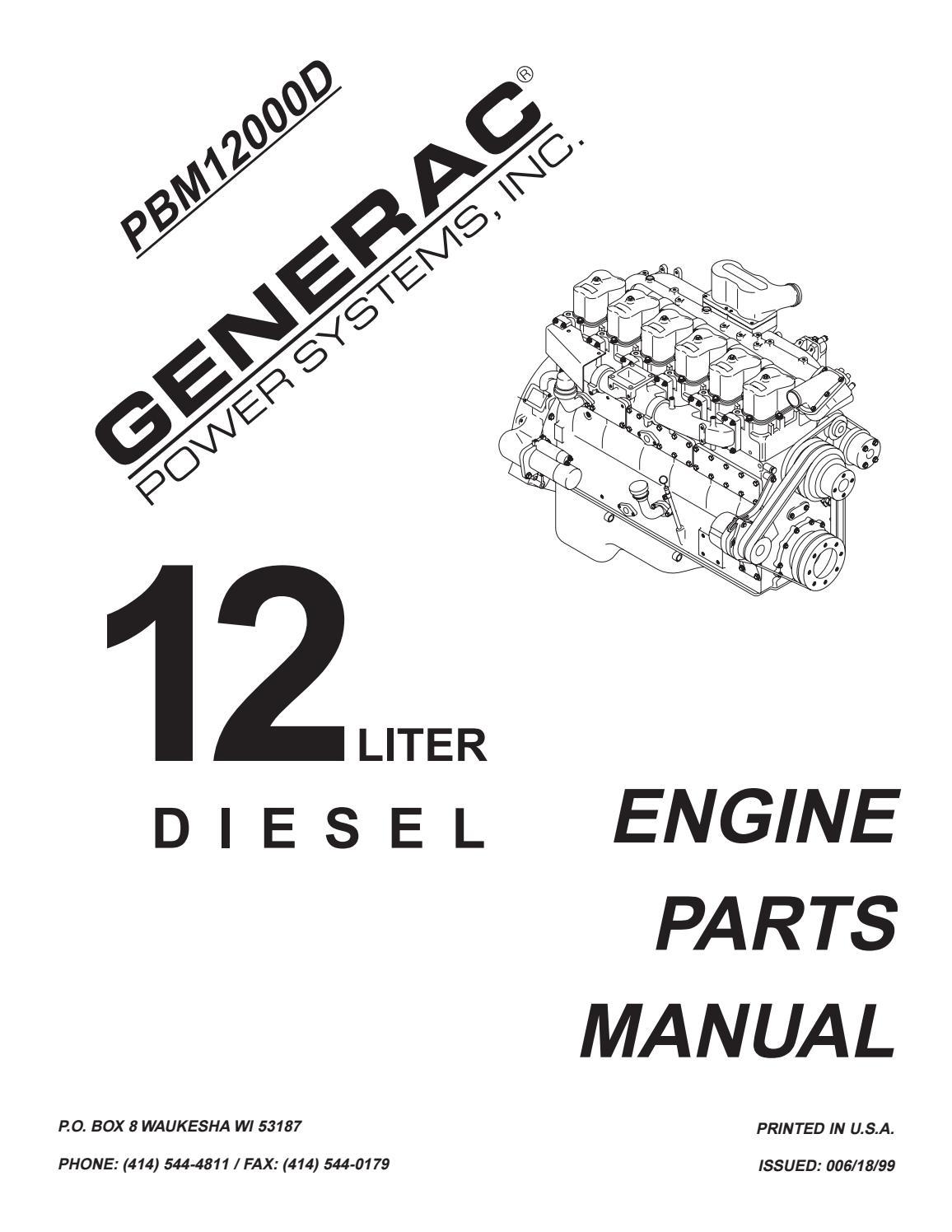 Generac Generator 12 Liter Diesel Mitsubishi Engine Parts