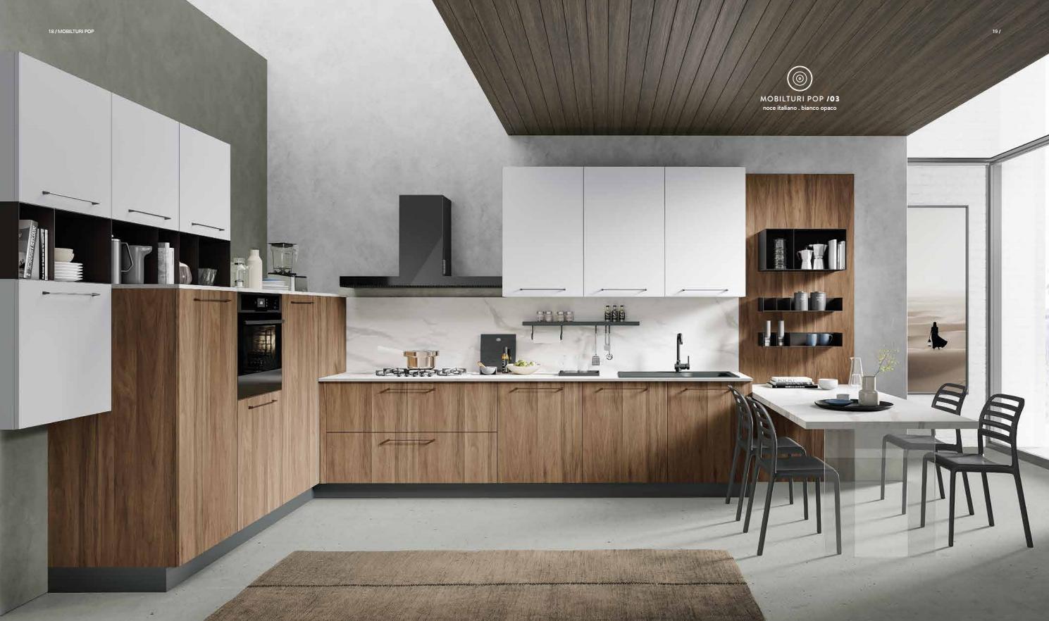 Azzurro carta da zucchero per. Pop Cucina Moderna Modern Kitchen Mobilturi Vebuka Com