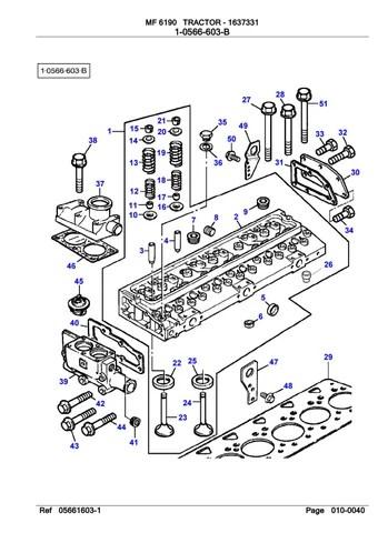 Massey Ferguson 6190 TRACTOR Service Parts Catalogue