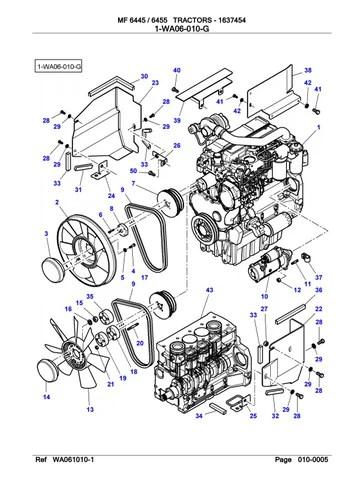 Massey Ferguson 6445 TRACTOR Service Parts Catalogue
