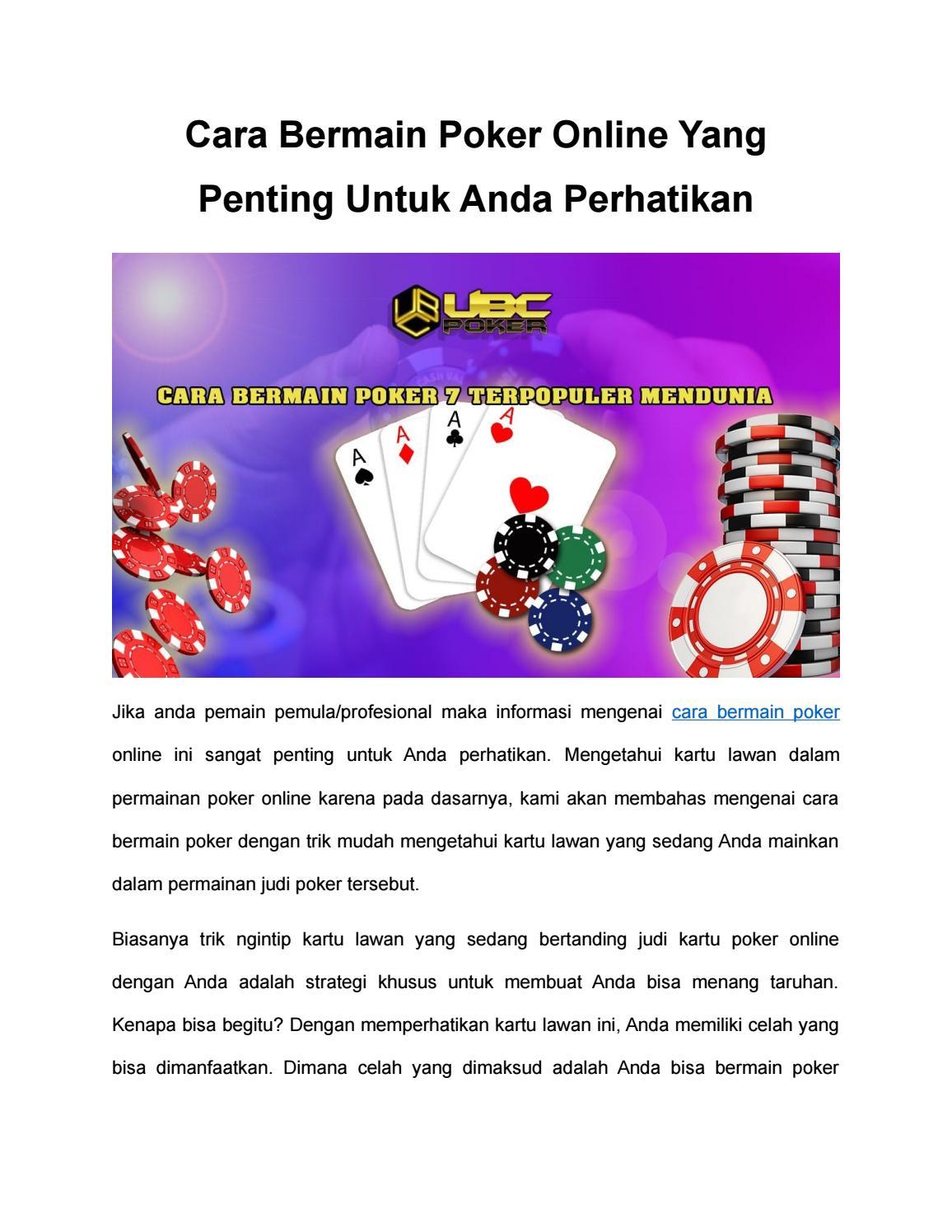 Cara Supaya Menang Judi Kartu : supaya, menang, kartu, Bermain, Poker, Online, Penting, Untuk, Perhatikan, Anika, Issuu