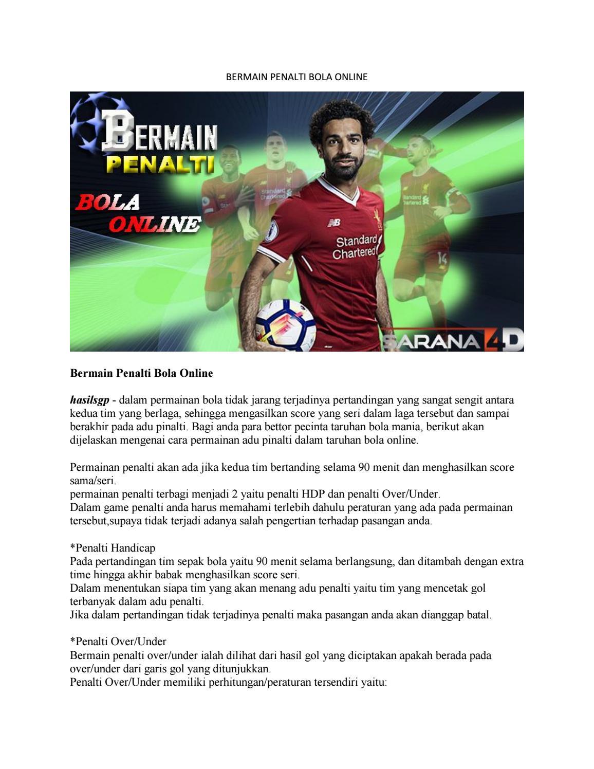 Permainan Adu Penalti : permainan, penalti, BERMAIN, PENALTI, ONLINE, Cshanny200, Issuu
