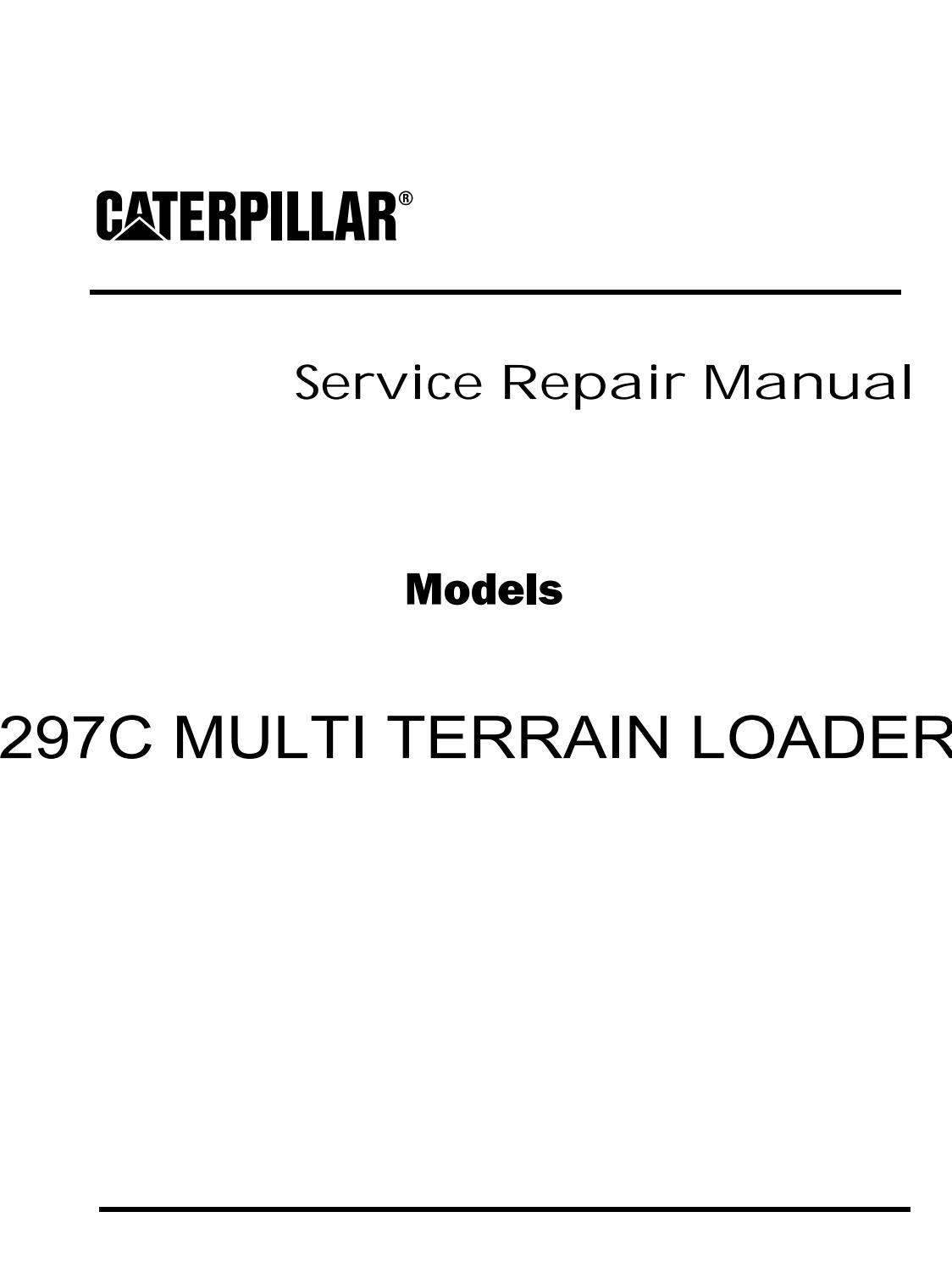 Caterpillar Cat 297C MULTI TERRAIN LOADER (Prefix GCP