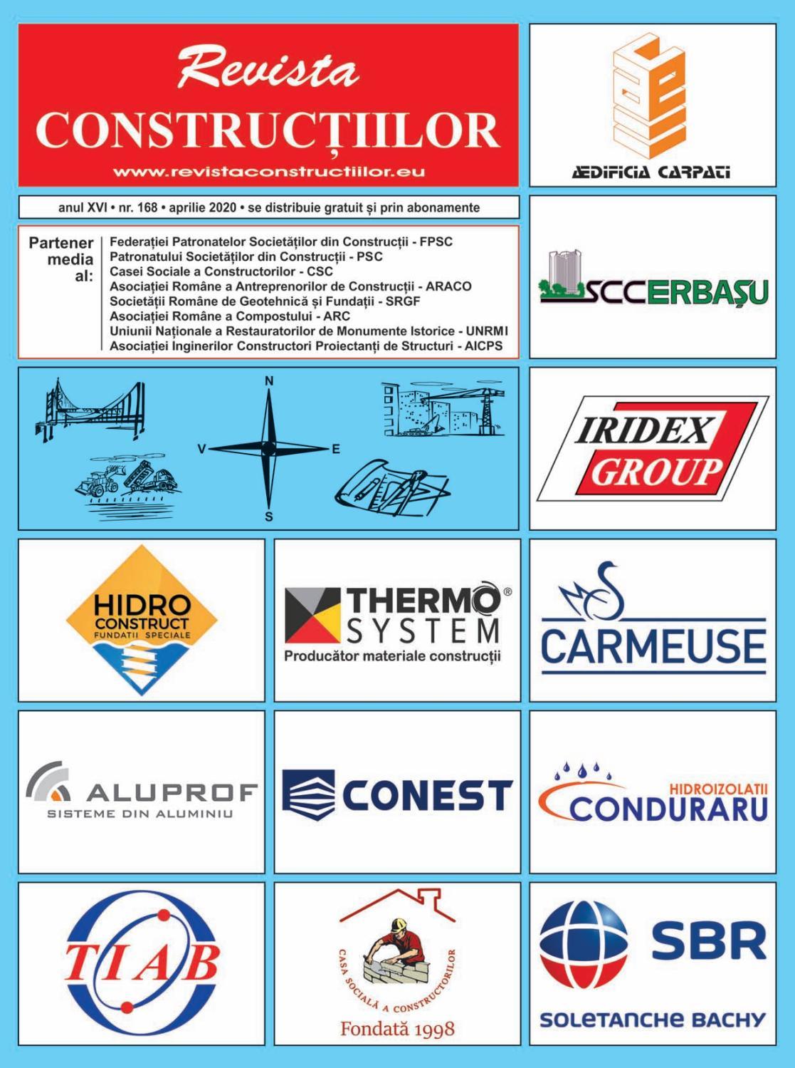 Revista Constructiilor - Nr. 168, Aprilie 2020 by Revista Constructiilor - Issuu