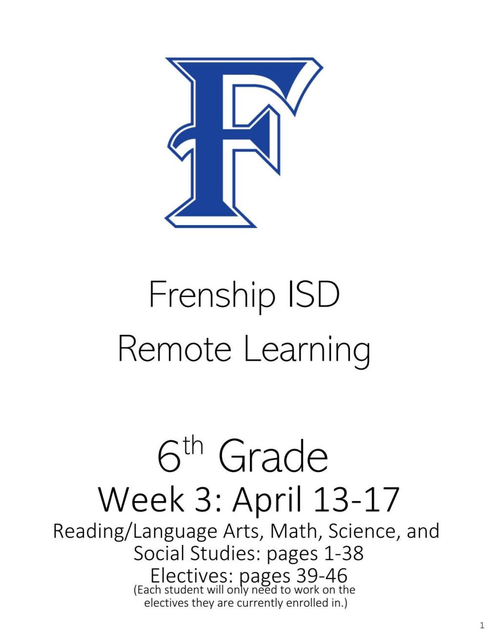 medium resolution of 6th Grade Remote Learning April 13-17 by frenshipisd - issuu