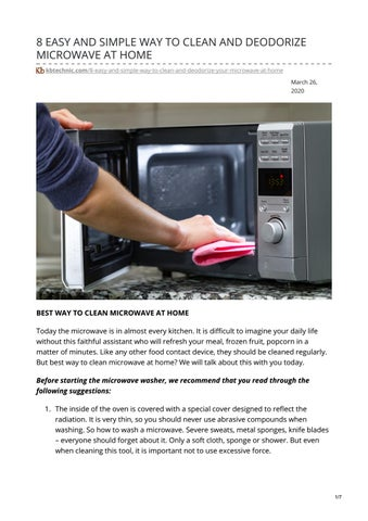 clean and deodorize microwave