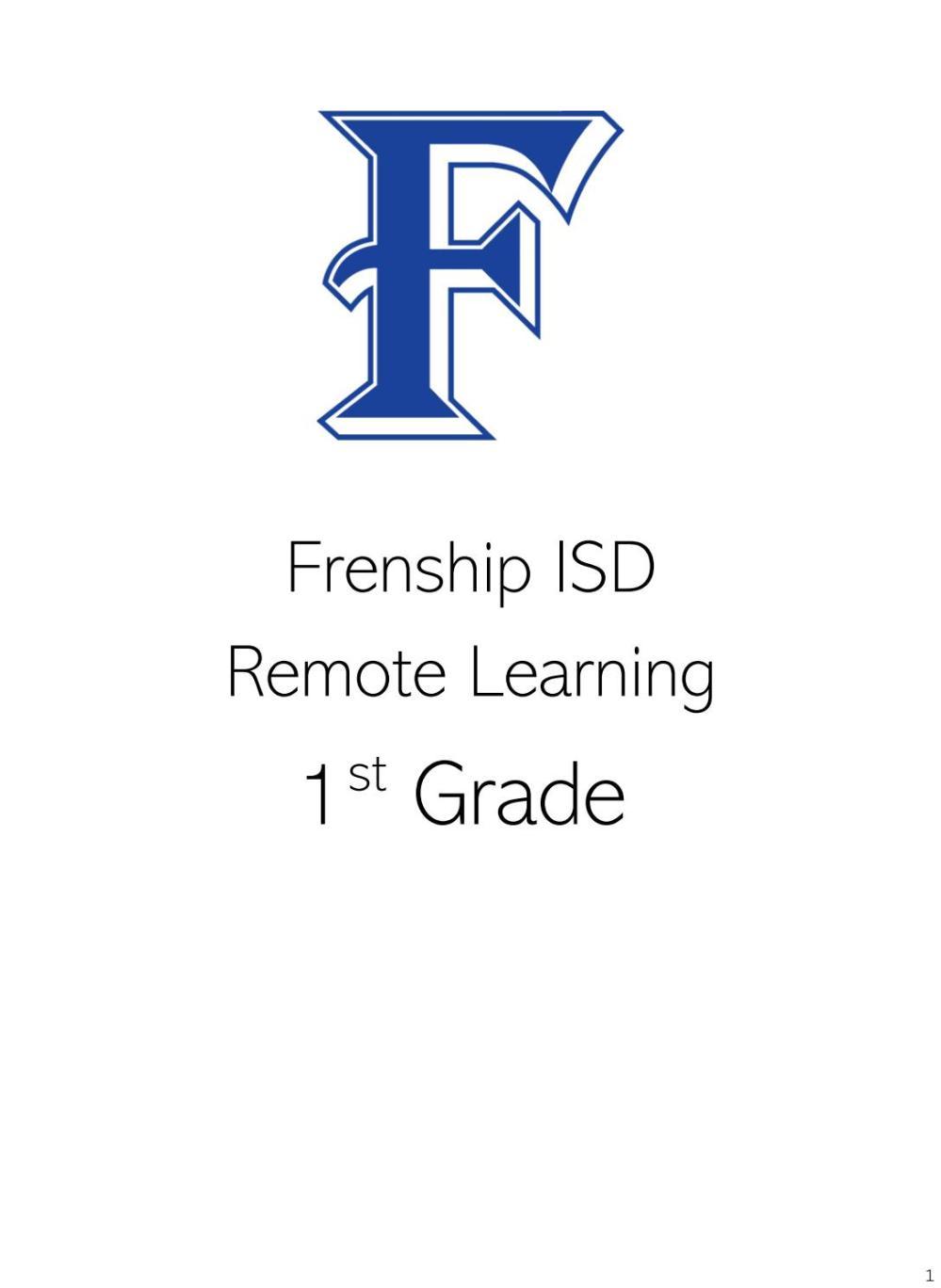 medium resolution of 1st Grade Remote Learning May 11-15 by frenshipisd - issuu