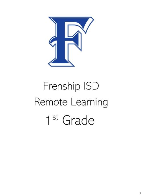 small resolution of 1st Grade Remote Learning May 11-15 by frenshipisd - issuu