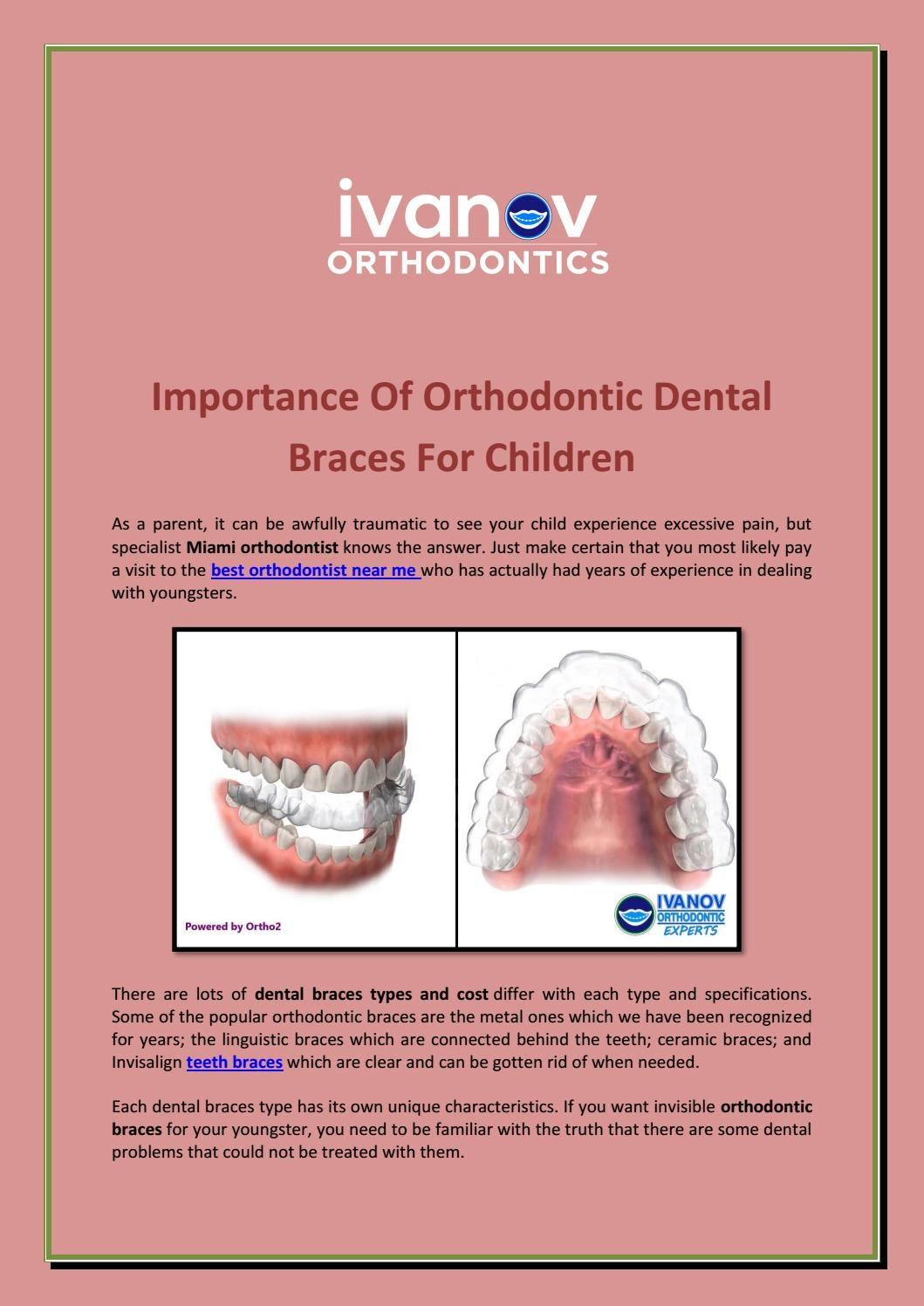 How To Make Your Own Braces : braces, Importance, Orthodontic, Dental, Braces, Children, Slessor, Issuu