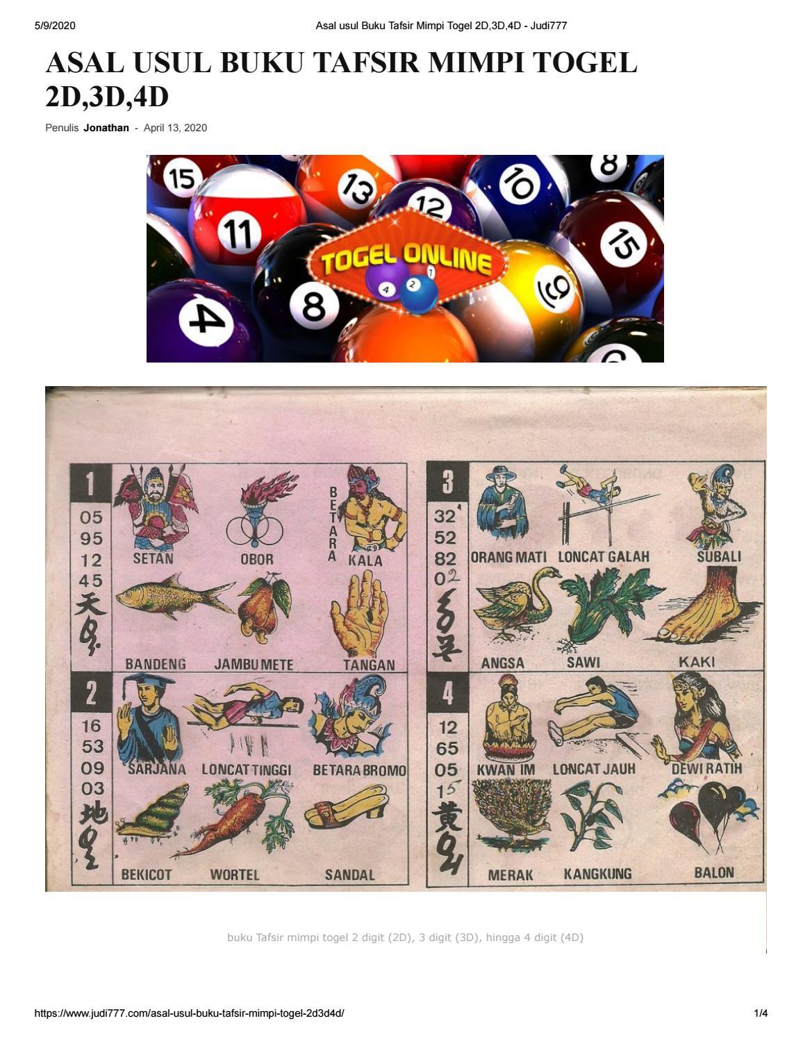 Buku Mimpi 2d : mimpi, TAFSIR, MIMPI, TOGEL, 2D,3D,4D, Cahya, Issuu