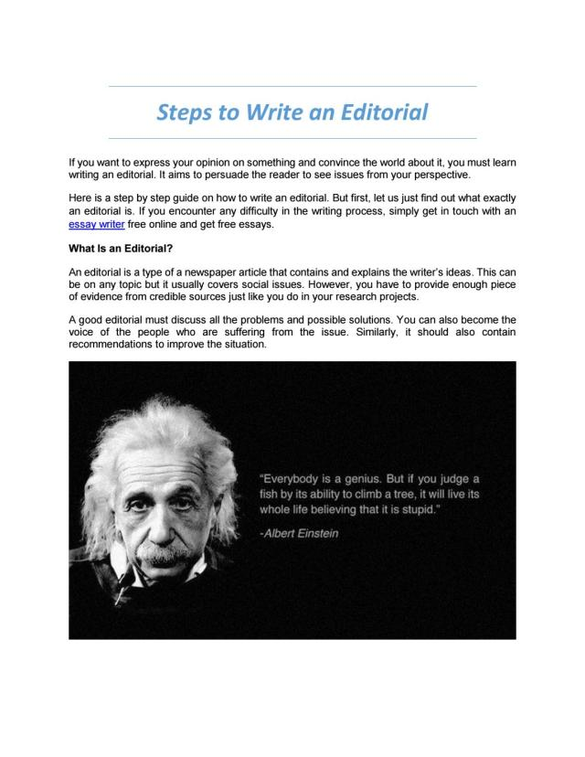Steps to Write an Editorial by RideRone - issuu