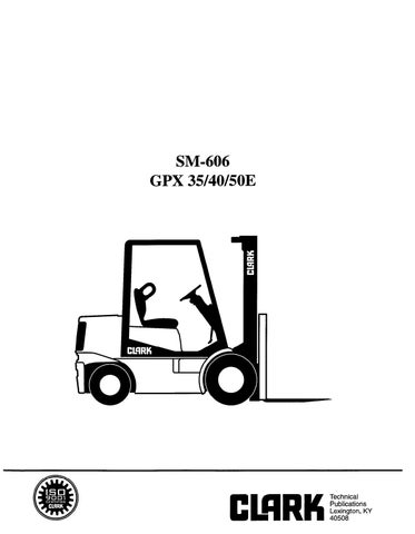 Clark GPX 40 Forklift Service Repair Manual by nap9fa3w