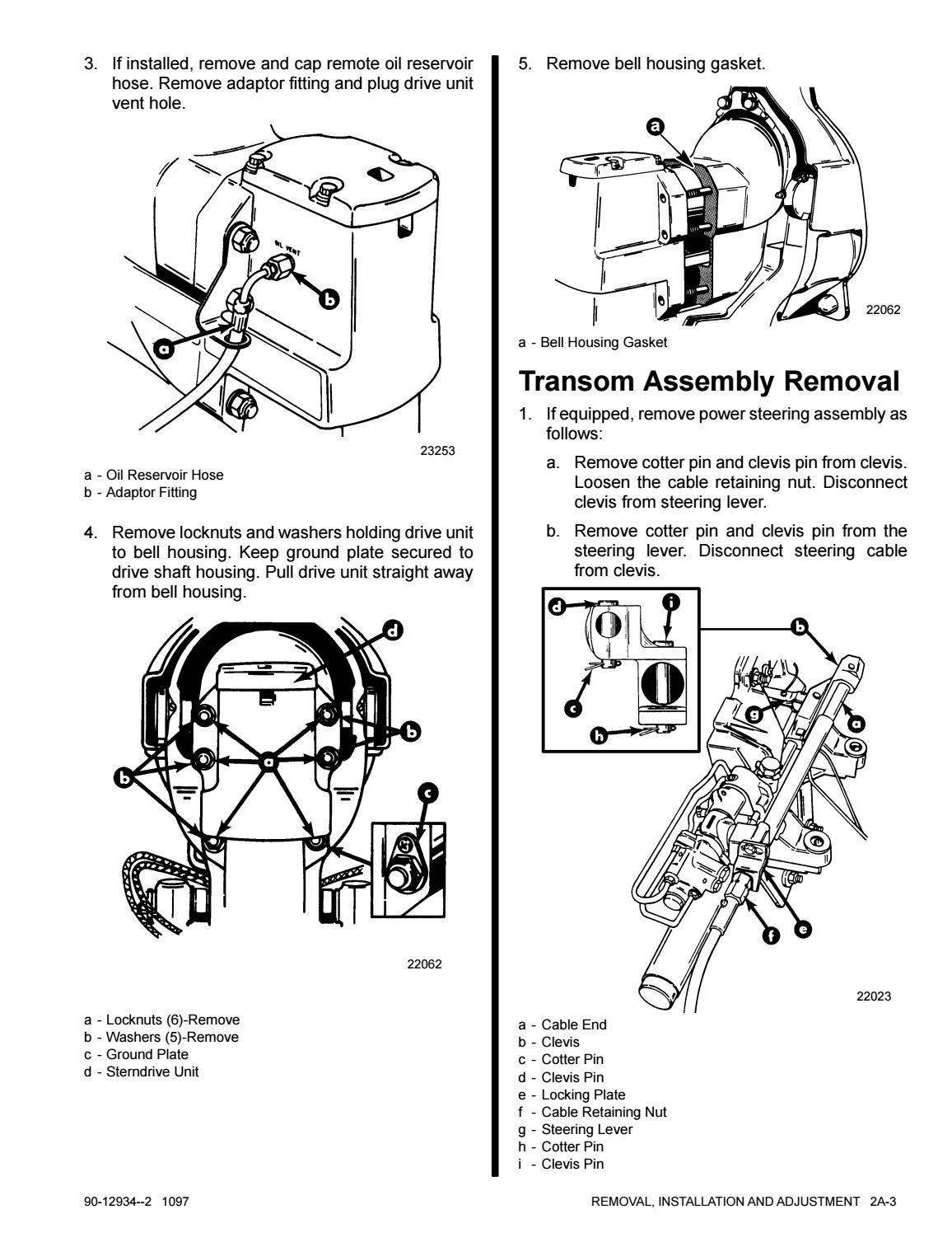 Mercruiser Sterndrive MC 185R Service Repair Manual SN