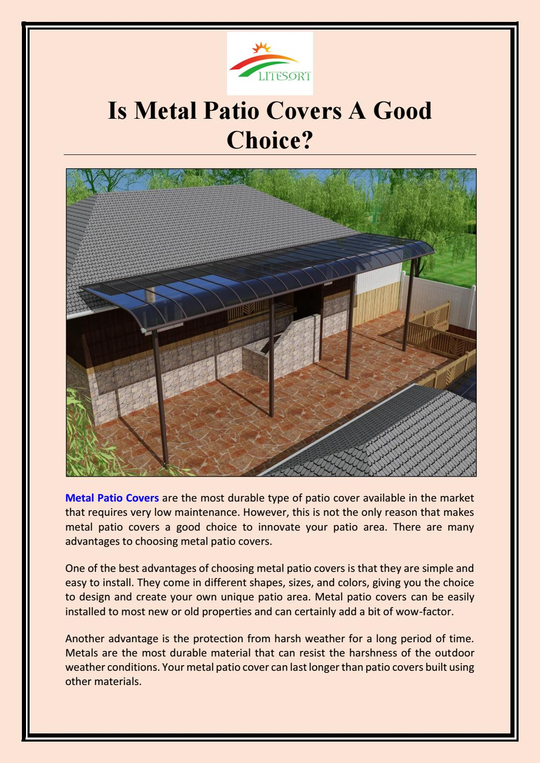 is metal patio covers a good choice by
