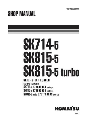 Komatsu SK815-5 Skid Steer Loader Service Repair Manual