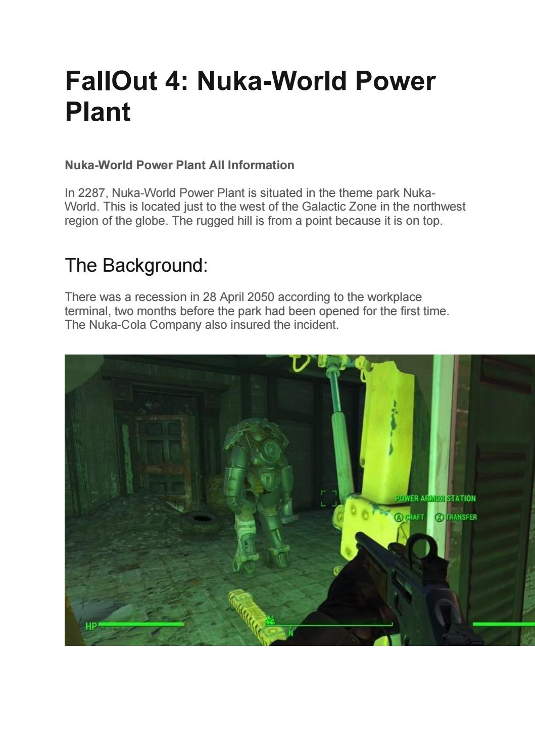 Nuka World Location Fallout 4 : world, location, fallout, FallOut, Nuka-World, Power, Plant, Thoughtscloud, Issuu