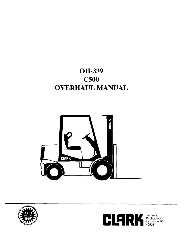Clark C500(Y) 30-55 Forklift Service Repair Manual by
