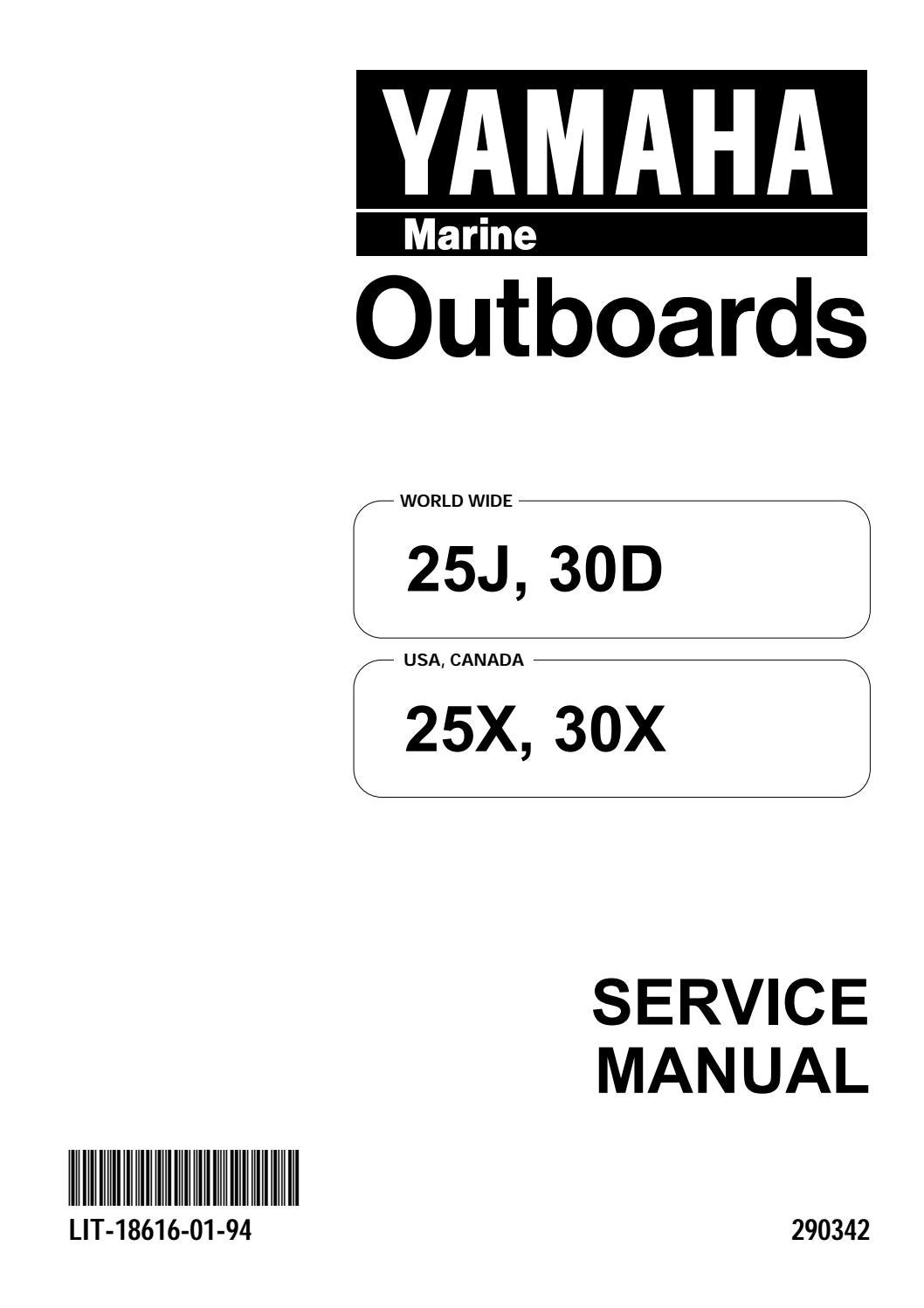 Download Yamaha Outboard 30hp 30 Hp Service Manual 1996