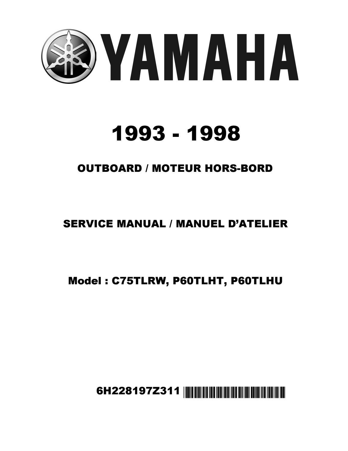 1993-1998 Yamaha 50 60 70 80 90hp 2stroke Outboard Repair