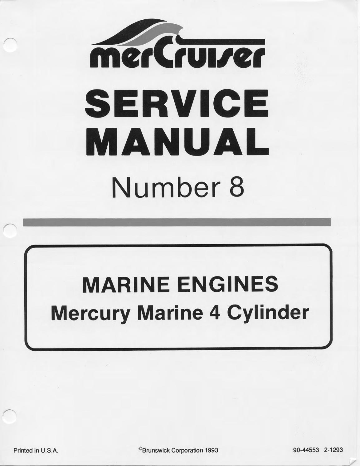 Mercruiser Marine Engines Mercury Marine 4 Cylinder Model