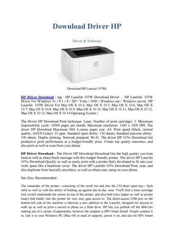 Driver Printer Hp Laserjet Pro 102a Windows 10 Download