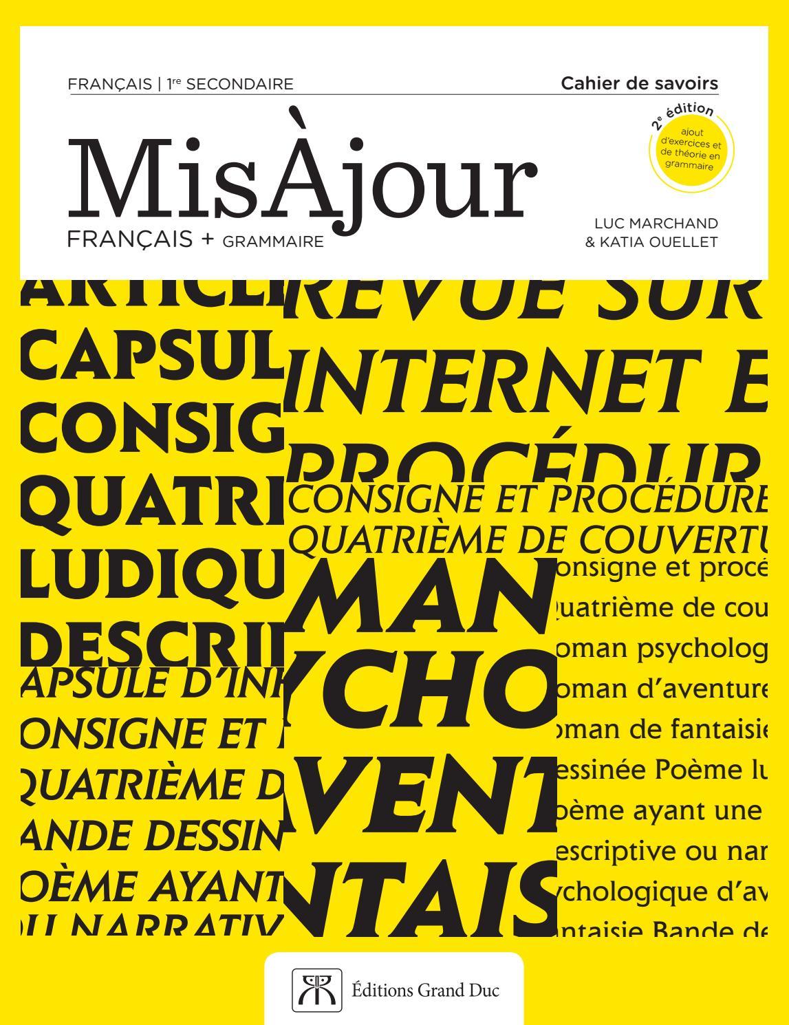 Combien De Mots Pour Une Nouvelle : combien, nouvelle, MisÀjour, Français, Grammaire, Secondaire, Éditions, Grand, Issuu