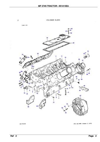 Massey Ferguson MF 2745 TRACTOR Service Parts Catalogue