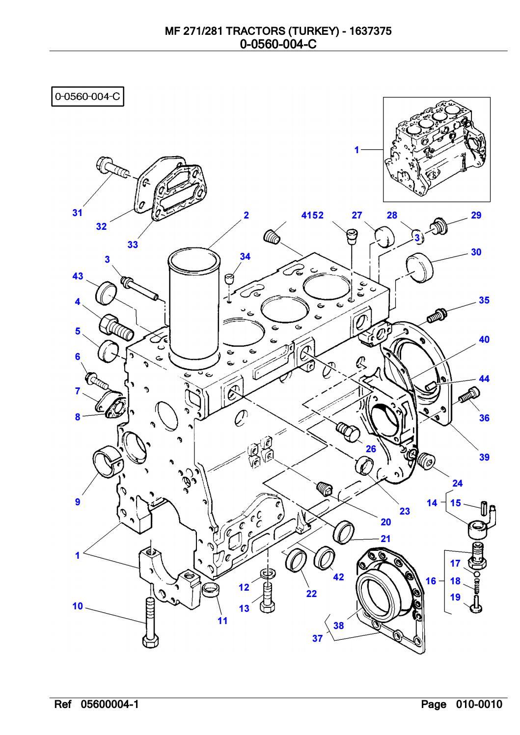 Massey Ferguson 271 TRACTOR (TURKEY) Service Parts