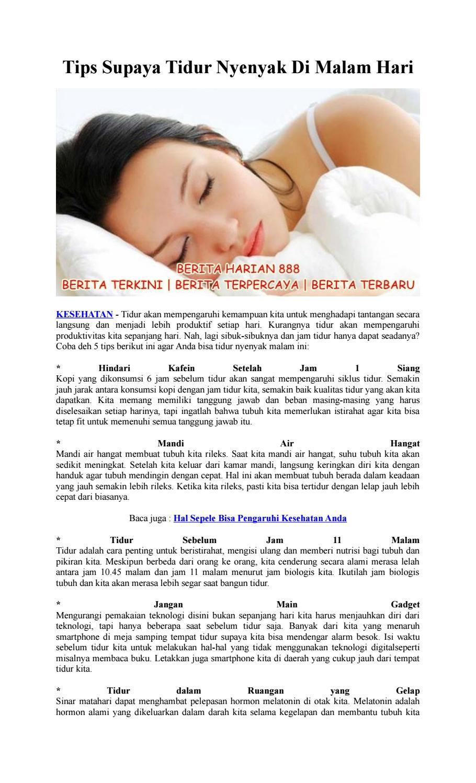 Saat Tidur Suhu Tubuh Menjadi : tidur, tubuh, menjadi, Supaya, Tidur, Nyenyak, Malam, Brenda, Susanti, Issuu