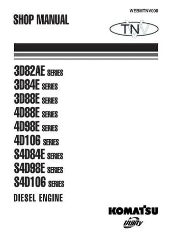 Komatsu 3D82AE, 3D84E, 3D88E, 4D88E, 4D98E, 4D106 S4D84E