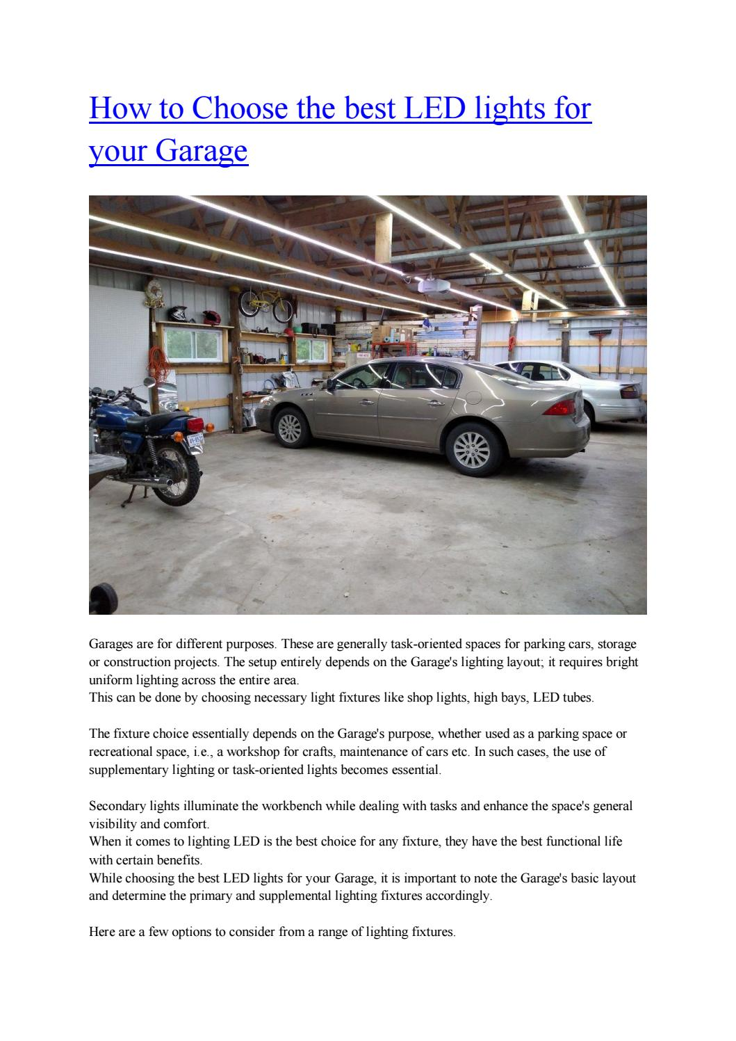 led lights for your garage