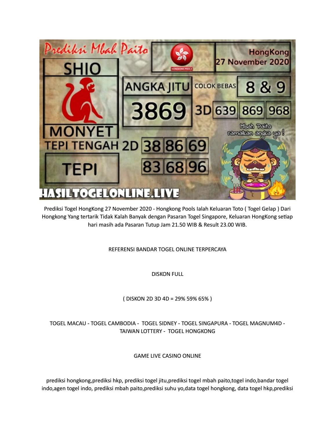 Hk Togeler 2020 : togeler, Prediksi, Hongkong, Pools