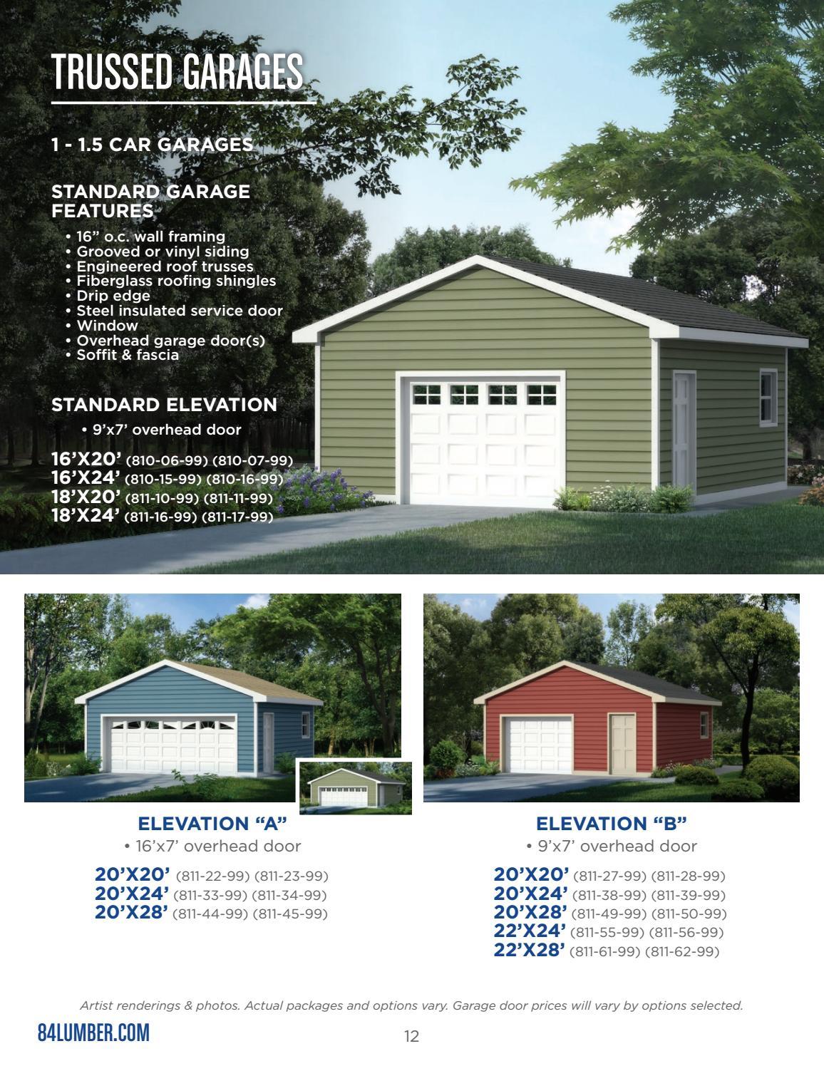 84 Lumber Garage Kits Prices : lumber, garage, prices, Lumber, Project, Catalog, Fritsch, Issuu