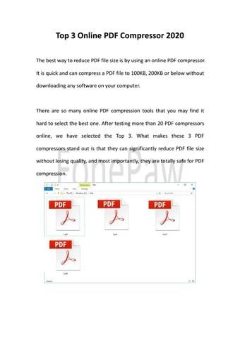 Compress Pdf To 300kb Online : compress, 300kb, online, Compress, Below, 100kb