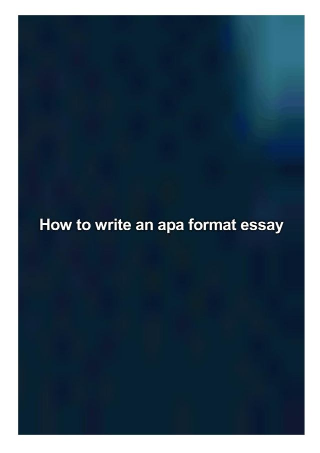 How to write an apa format essay by Faint Kimberly - issuu