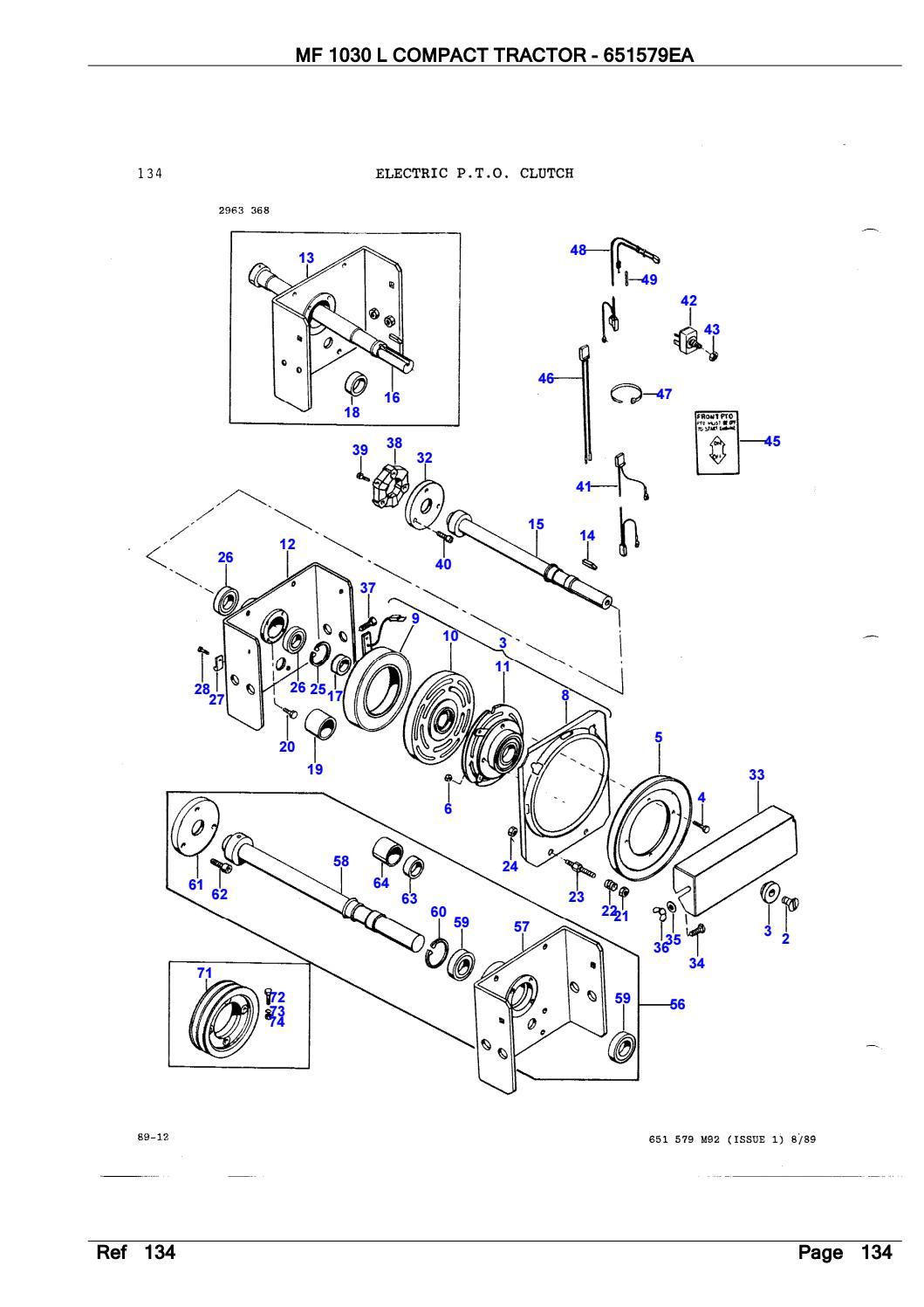 Massey Ferguson MF 1030 L COMPACT TRACTOR Parts Catalogue
