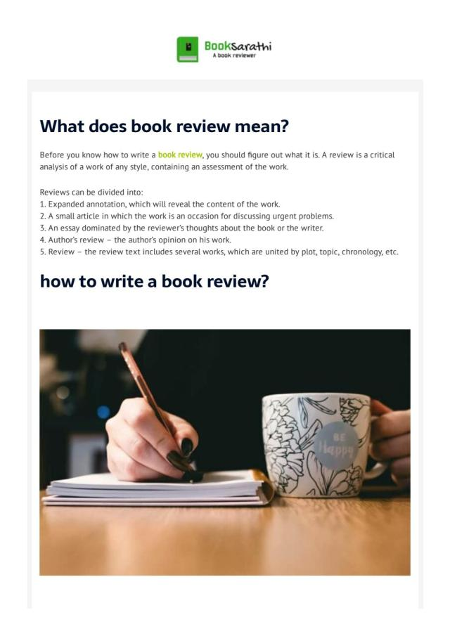 How to write a book review-Ultimate Guide by Book Sarathi - issuu