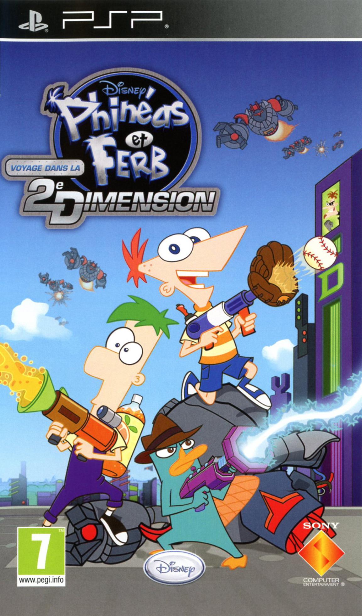 Phineas Et Ferb Le Jeu : phineas, Phinéas, Voyage, Deuxième, Dimension, PlayStation, Portable, Jeuxvideo.com