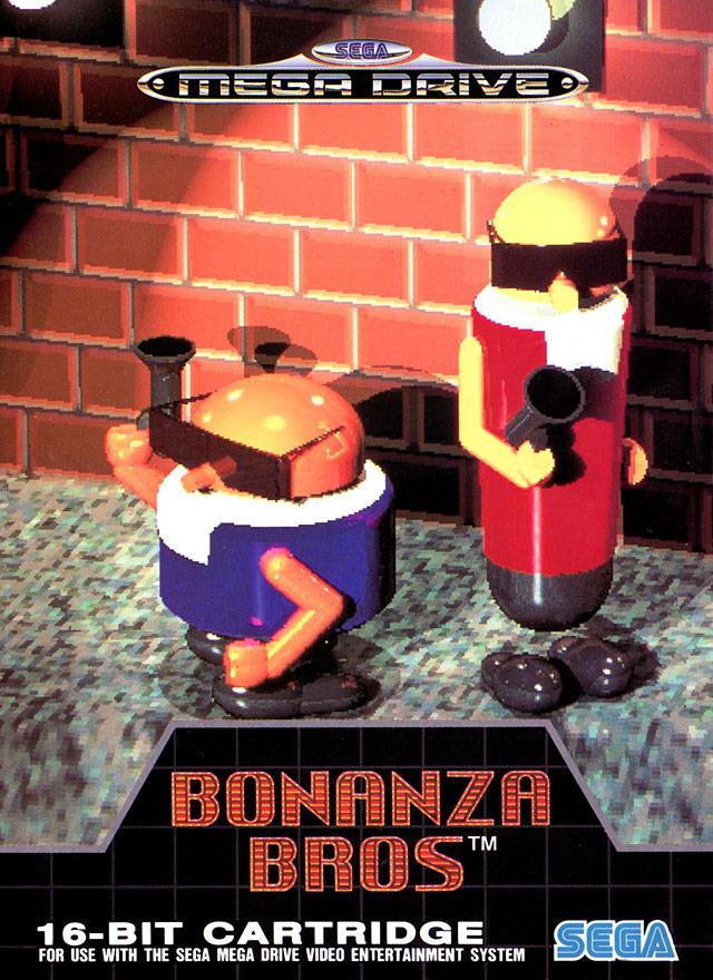 Bonanza Bros sur Megadrive  jeuxvideocom