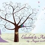Weddingtree Hochzeit Weddingtree Geschenk Leinwand Gaestebuch Hochzeitsbaum