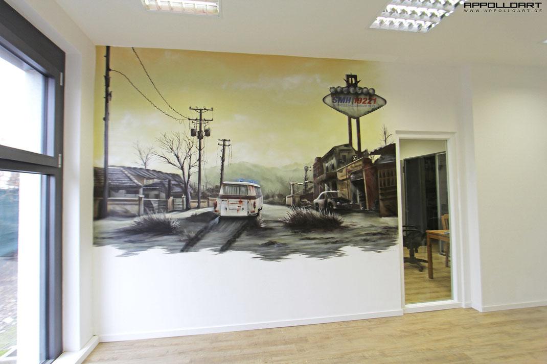 Bro 3d Bild  AppolloART Graffiti Airbrush Wandgestaltung