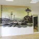 Buro 3d Bild Graffiti Bild Airbrush Wandgestaltung Fassadengestaltung In 3d