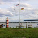 Blick vom Hafen Altwarp auf Nowe Warpno (PL)