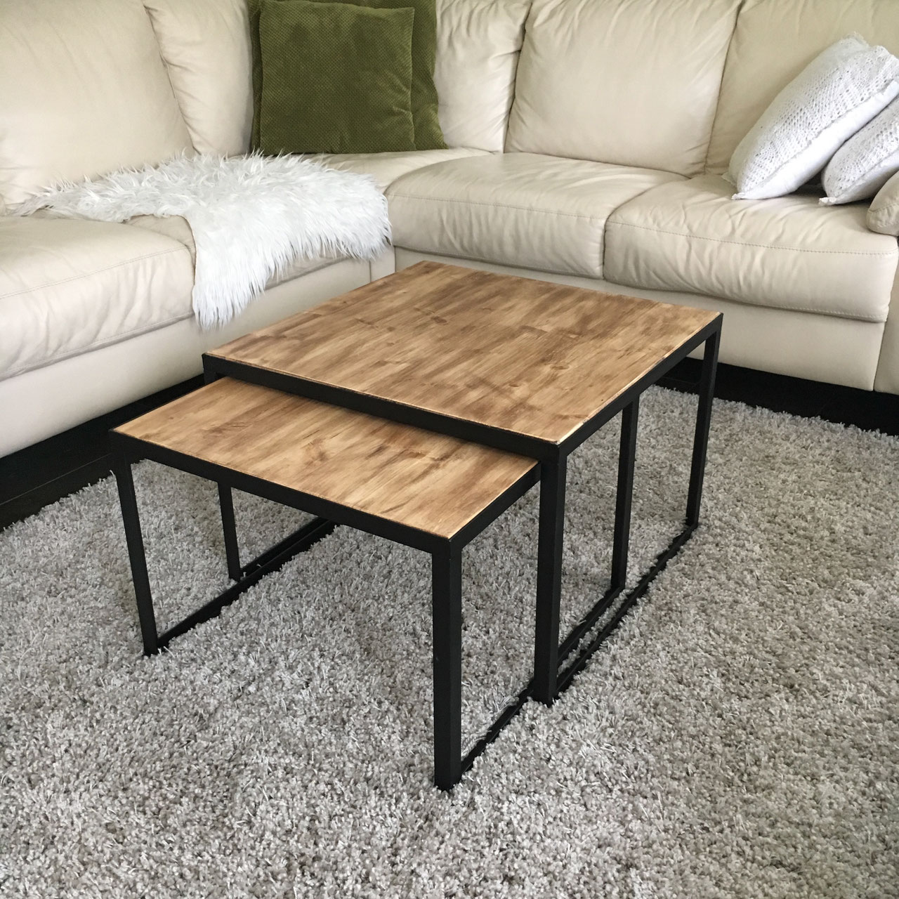 Salontafel Rond Staal Hout