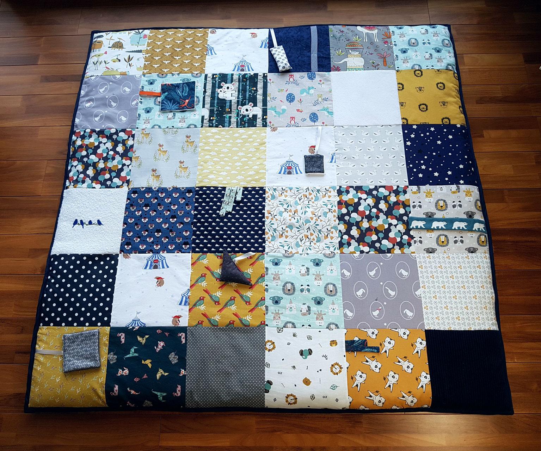 tapis d eveil sensoriel xxl de 120 120 cm oeko tex hyperconfortable frais de port inclus