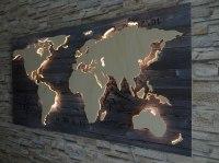 Weltkarte Holz